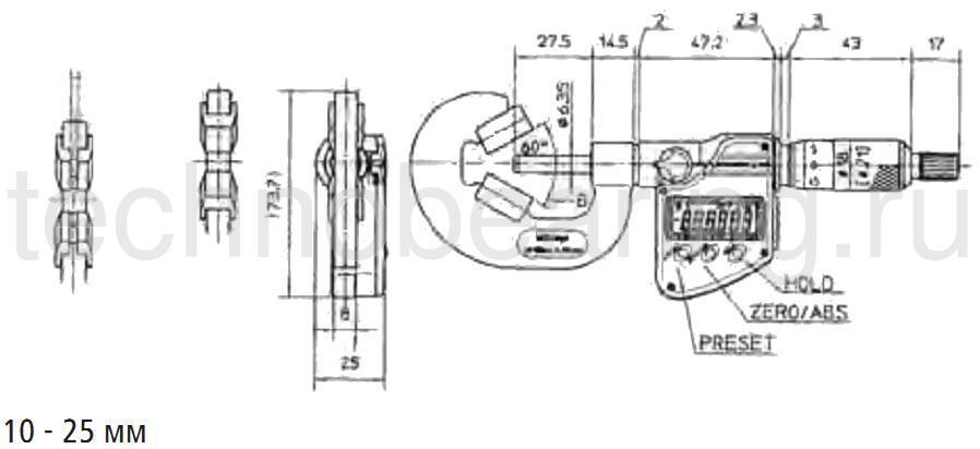 пяткой схема 2 микрометры